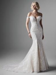 off shoulder sleeves wedding dress