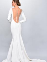 Backless mermaid bridal dress